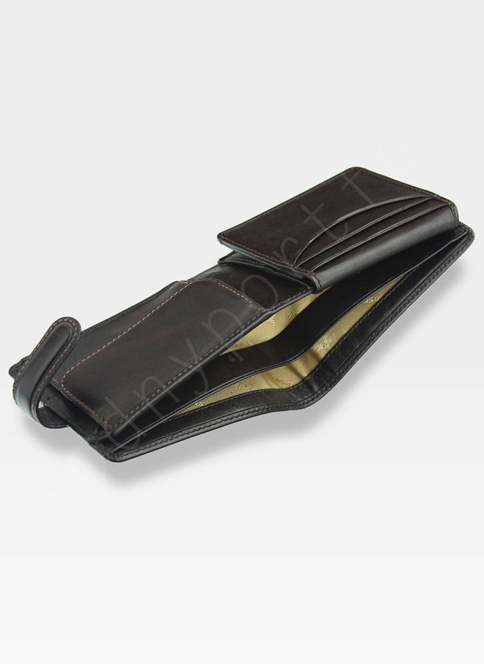 Viscont Bezpieczny Portfel Męski Skórzany Brązowy RFID TSC48