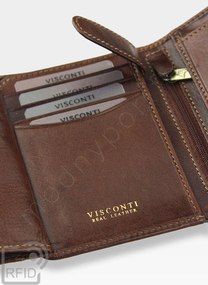 Visconti Klasycznyi Portfel Męski Skórzany TSC44