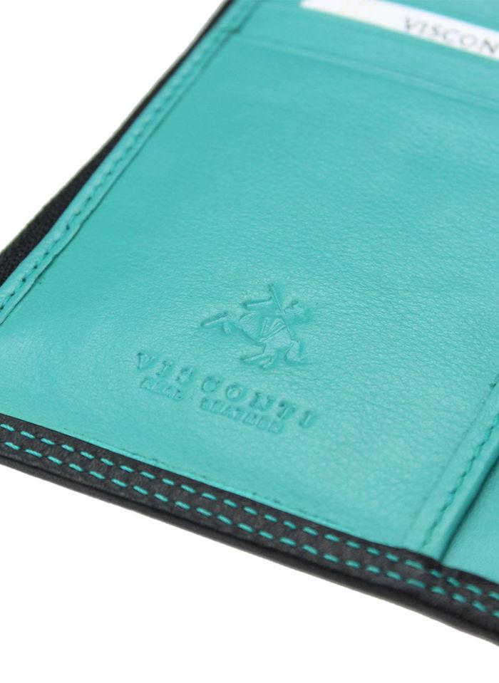 Visconti Portfel Damski Skórzany Colorado CD23 Niebieski