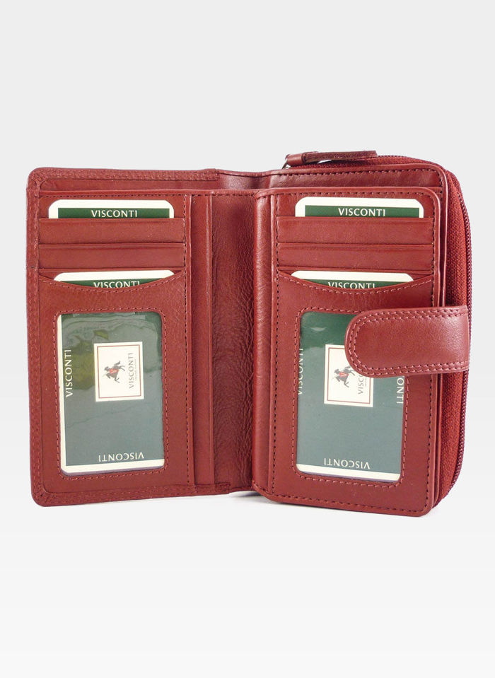 Visconti Portfel Damski Skórzany Heritage HT33 Czerwony