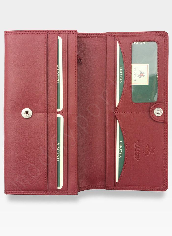 Visconti Portfel Damski Skórzany Heritage HT35 Czerwony