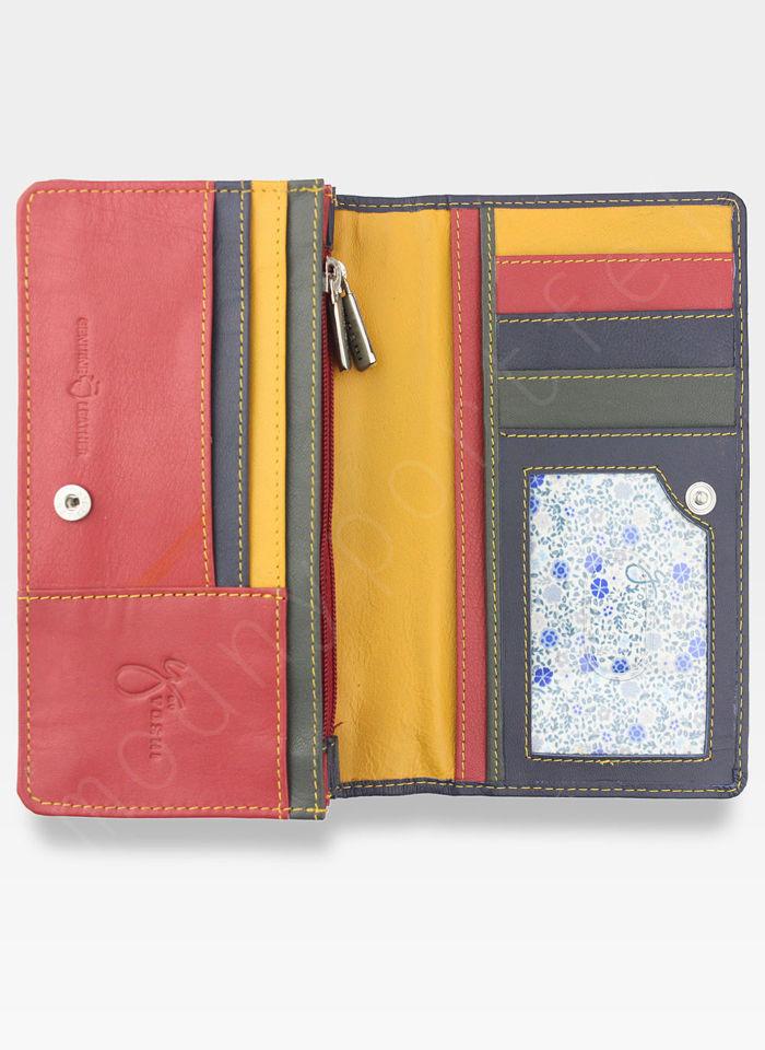 YOSHI Portfel Damski Skórzany Czerwony Multi Y By Yoshi Y1043 26