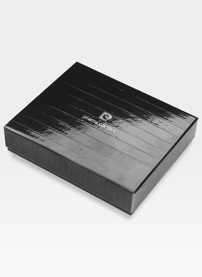 Zapinany Portfel Męski Pierre Cardin Skórzany Ciemny Brąz Premium YS507.1 326A