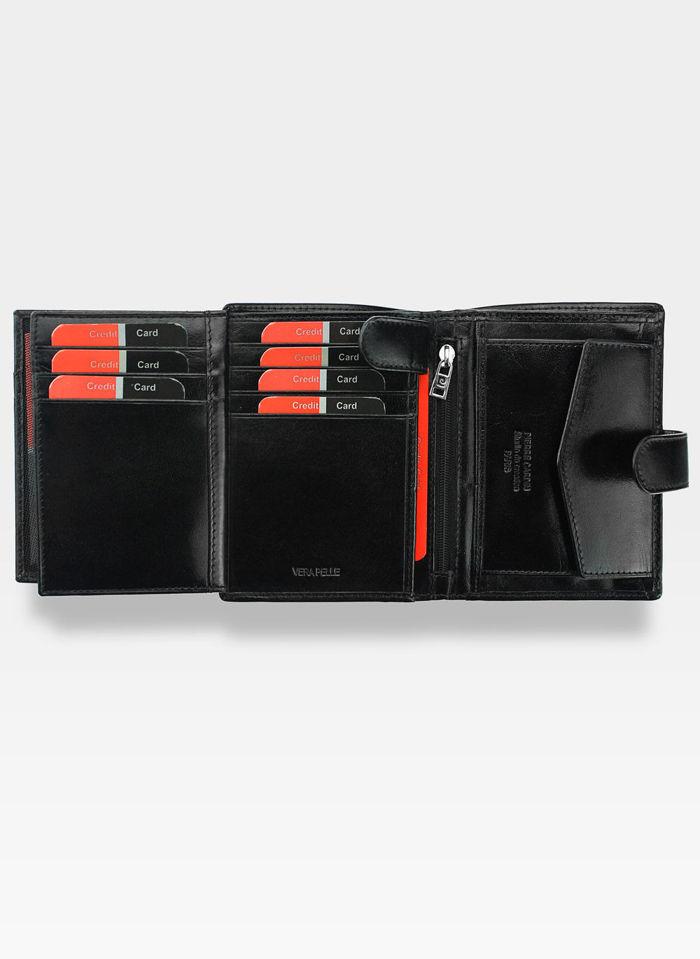 Zapinany Portfel Męski Pierre Cardin Skórzany Premium YS520.1 326A