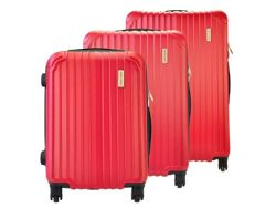 Komplet walizek 3w1 A4 Pierre Cardin ABS1226 RUIAN07 x3 Z czerwony