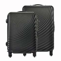 Komplet walizek 2w1 A4 Pierre Cardin ABS8077 RUIAN11 x2 Z czarny