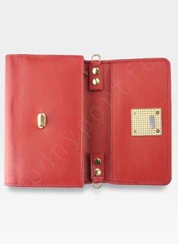 21f4baec4281e ... Torebka Skórzana Pierre Cardin Kopertówka Mała Rozbudowana Pojemna  1416B Czerwona Kliknij, aby powiększyć. 1