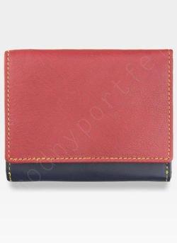 YOSHI Mały Portfel Damski Skórzany Czerwony Multi Y By Yoshi Y1193 28